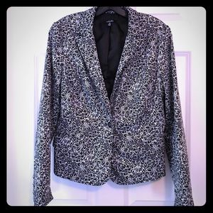 Rafaella Black/White One Button Blazer